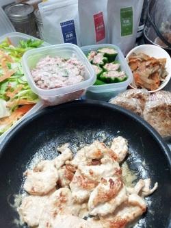 鶏肉のマヨ味噌
